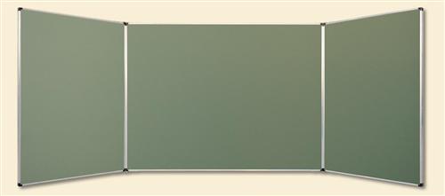 Tablica magnetyczno kredowa - zielona - typ tryptyk